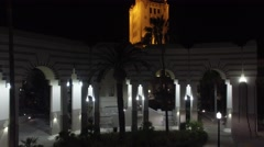 beverly hills city hall close up - stock footage