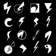 Set of lightning icons Stock Illustration