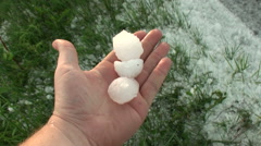 Stock Video Footage of Hailstones 2 inches or more can cause major damage