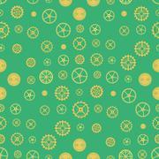 Seamless rusty cogwheel pattern - stock illustration