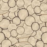 Tree rings saw cut tree trunk background - stock illustration