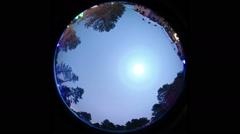 light Halo around the moon - stock footage