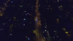 Beverly hills streets drone fly over Stock Footage