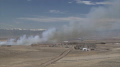 Colorado Wildfire Threatens Farm Homes Stock Footage