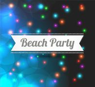 invitation to Beach party - stock illustration