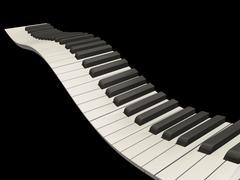 Wavy piano keys Stock Photos