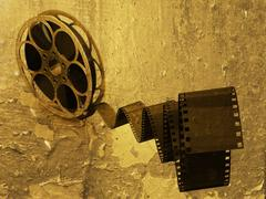 Grunge film strip - stock photo