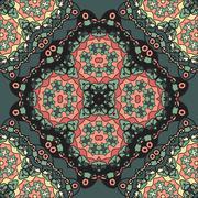 Abstract Retro Ornate Mandala Wallpaper for greeting card, Brochure, Card or - stock illustration