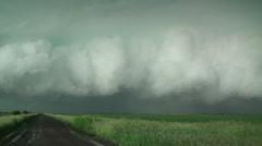 Ominous Shelf Cloud Stock Footage