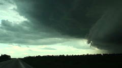 Chasing a Gust Front Stock Footage