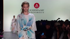 New York Fashion Week 2015 - Academy of Art University Spring Collection Stock Footage