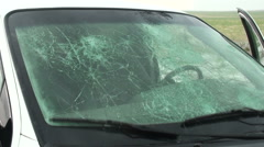 Hail Damaged Windshields Stock Footage