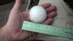 Two Inch Hailstone - stock footage