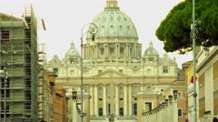 ULTRA HD 4K real time shot,The Traffic street at Via della Conciliazione,Rome Stock Footage