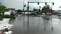 Urban Street Flooding Stock Footage