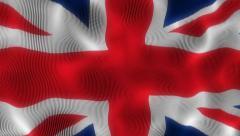 Waving Flag United Kingdom Stock Footage