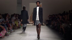 Stock Video Footage of New York Fashion Week 2015 - Creatures of The Wind Spring Collection