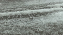 Hail Slush Stock Footage