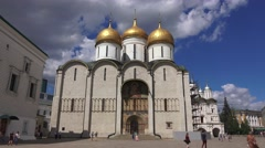 The Assumption Cathedral (in 4k) inside the Kremlin, Moscow, Russia. Stock Footage