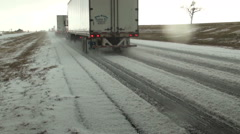 Slogging Down the Highway of Hail Stock Footage