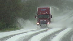 Haulin' in the Hail Stock Footage