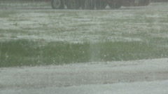 Rain and Hail Stock Footage