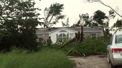 Tornado Debris Stock Footage