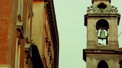 ULTRA HD 4K real time shot,The Historic architecture on the streets of Rome Stock Footage