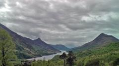Scottish landscape by Kinlochleven time lapse Stock Footage