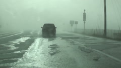 Bad Driving Weather Stock Footage