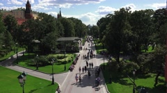 Alexander Gardens beside the Kremlin, Moscow, Russia. Stock Footage