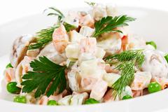 Vegetable Salad with  Mayonnaise - stock photo