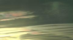 Sunset Iridescent Waves Stock Footage