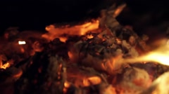 Ember fire - stock footage