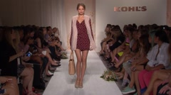 New York Fashion Week 2015 - Lauren Conrad Spring Collection Stock Footage