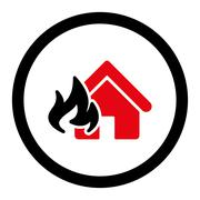 Fire Damage icon - stock illustration