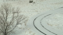 Sun Shovels Snow - stock footage