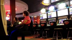 Close up slot machine Stock Footage