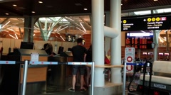 One side of airport terminal in Vancouver BC Canada. - stock footage