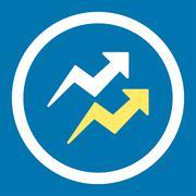 Trends icon - stock illustration