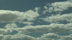 Time of Classic Fair Weather Cumulus Clouds on Summer Day Stock Footage