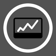 Stock Market icon - stock illustration
