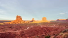 Time Lapse - Beautiful Sunset of Monument Valley Stock Footage