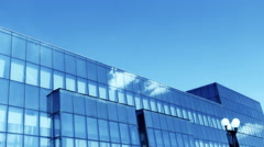 Building clouds Reflection time lapse 1 mb Stock Footage