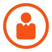 Client icon - stock illustration
