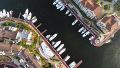City Yacht Club - stock footage