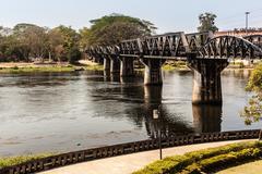 Bridge on the river Kwai - stock photo