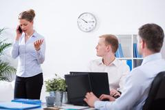 Stock Photo of Anger business discussion
