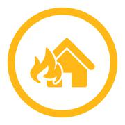 Stock Illustration of Fire Damage icon