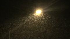 Night Blizzard Stock Footage